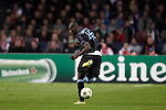 Nederland, Amsterdam, 24 oktober  2012.Champions League.Seizoen 2012-2013.Ajax-Manchester City 3-1.Mario Balotelli van Manchester City in actie met de bal