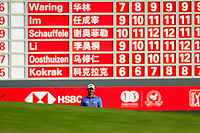 Paul Waring (ENG) on the 18th during the 3rd round of the WGC HSBC Champions, Sheshan Golf Club, Shanghai, China. 02/11/2019.<br /> Picture Fran Caffrey / Golffile.ie<br /> <br /> All photo usage must carry mandatory copyright credit (© Golffile | Fran Caffrey)