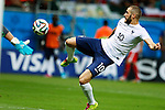 Karim Benzema (FRA), JUNE 20, 2014 - Football /Soccer : Karim Benzema of France scores his side fourth goal during the FIFA World Cup Brazil 2014 Group E match between Switzerland 2-5 France at Arena Fonte Nova, Salvador, Brazil. (Photo by D.Nakashima/AFLO)
