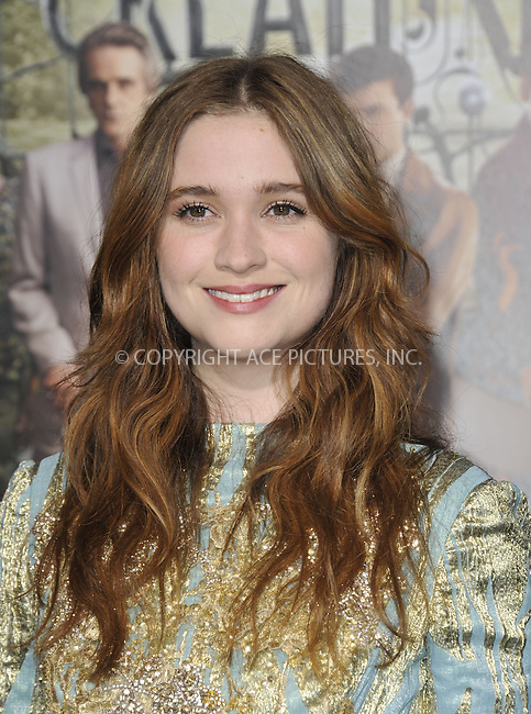 WWW.ACEPIXS.COM....February 6 2013, LA....Alice Englert arriving at the Los Angeles premiere of 'Beautiful Creatures' at TCL Chinese Theatre on February 6, 2013 in Hollywood, California.....By Line: Peter West/ACE Pictures......ACE Pictures, Inc...tel: 646 769 0430..Email: info@acepixs.com..www.acepixs.com