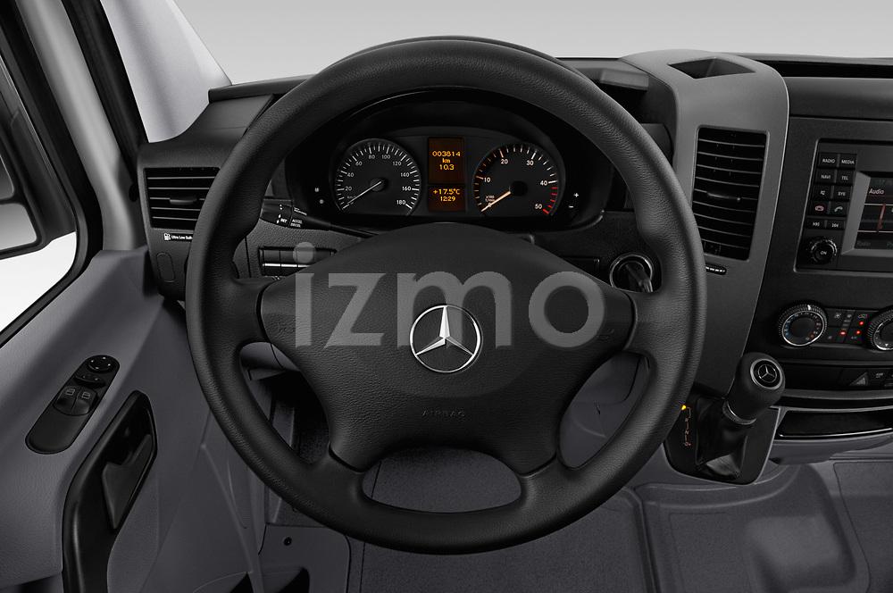 Car pictures of steering wheel view of a 2017 Mercedes Benz Sprinter Base 4 Door Cargo Van