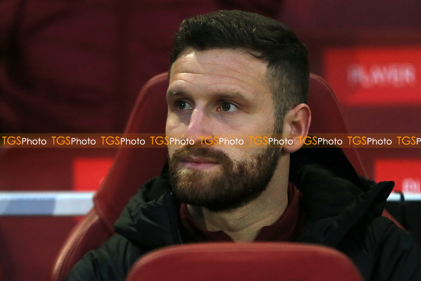 Shkodran Mustafi of Arsenal was named as a substitute during Arsenal vs Napoli, UEFA Europa League Football at the Emirates Stadium on 11th April 2019
