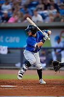 Biloxi Shuckers Cooper Hummel (9) at bat during a Southern League game against the Pensacola Blue Wahoos on May 3, 2019 at Admiral Fetterman Field in Pensacola, Florida.  Pensacola defeated Biloxi 10-8.  (Mike Janes/Four Seam Images)