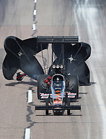 Feb 24, 2019; Chandler, AZ, USA; NHRA top fuel driver Terry Totten during the Arizona Nationals at Wild Horse Pass Motorsports Park. Mandatory Credit: Mark J. Rebilas-USA TODAY Sports