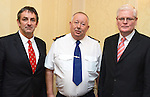 Mayor Richie Culhane, Garda Superintendant Gerry Smith and Drogheda and South Louth Joint Policing Committee Chairman, Cllr. Frank Maher at the Committee's public meeting in the Westcourt Hotel.