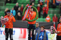 SPEED SKATING: HAMAR: Vikingskipet, 05-03-2017, ISU World Championship Allround, Final Podium Men, Patrick Roest (NED), Sven Kramer (NED), ©photo Martin de Jong