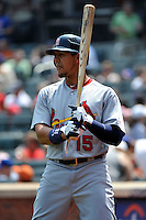 St. Louis Cardinals outfielder Jon Jay #15 during a game against the New York Mets at Citi Field on July 21, 2011 in Queens, NY.  Cardinals defeated Mets 6-2.  Tomasso DeRosa/Four Seam Images