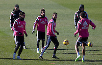Kehedira, Coentrao, Cristiano Ronaldo and Bale during a sesion training at Real Madrid City in Madrid. January 23, 2015. (ALTERPHOTOS/Caro Marin) /NortePhoto<br />