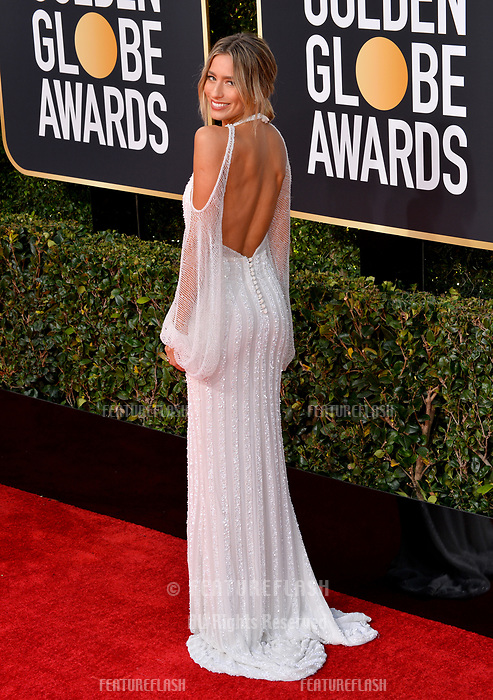 LOS ANGELES, CA. January 06, 2019: Renee Bargh at the 2019 Golden Globe Awards at the Beverly Hilton Hotel.<br /> Picture: Paul Smith/Featureflash