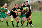 C. McRobbie & H. Heta wrap up G. Read. Counties Manukau Premier Club Rugby, Drury vs Bombay played at the Drury Domain, on the 14th of April 2006. Bombay won 34 - 13.