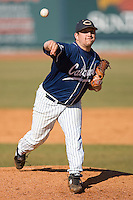 Clay Watson #10 of the Catawba Indians in action versus the Shippensburg Red Raiders on February 14, 2010 in Salisbury, North Carolina.  Photo by Brian Westerholt / Four Seam Images