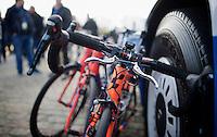 smaller inner brakes for Bjorn Leukemans (BEL/Wanty-Groupe Gobert) today<br /> <br /> 103rd Scheldeprijs 2015