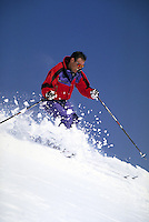 Dan Lakatos (MR521) alpine skiing, Breckenridge Ski Area, Summit County, CO. Dan Lakatos (MR521). Summit County, Colorado.