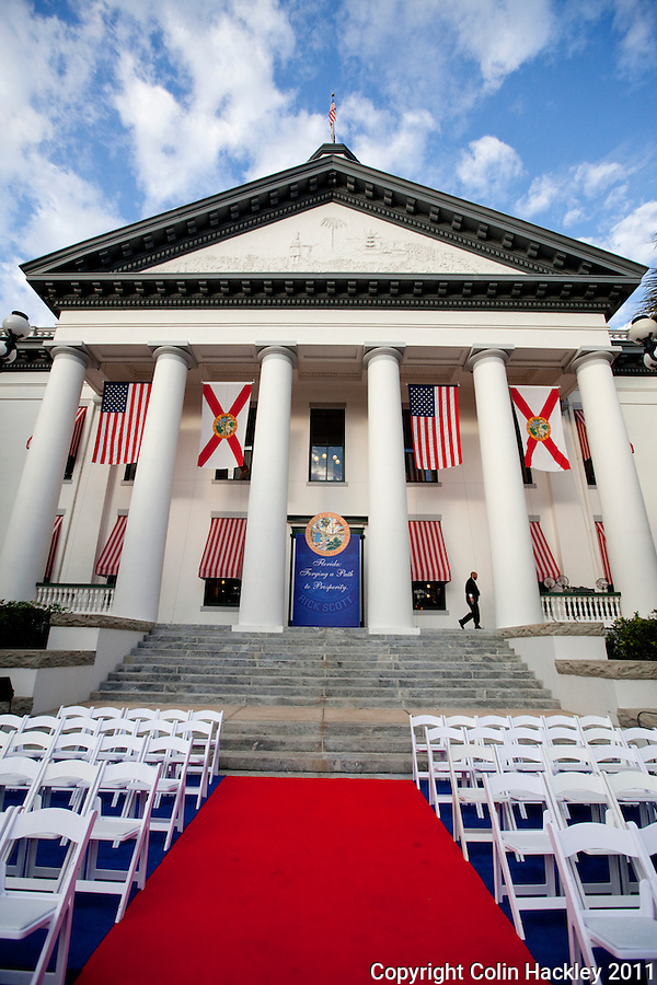 TALLAHASSEE, FLA. 1/4/11-SCOTTINAUG010411 CH-The Historic Florida Capitol on the morning of the inauguration ceremonies for Gov. Rick Scott..COLIN HACKLEY PHOTO