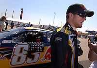 Apr 28, 2007; Talladega, AL, USA; Nascar Nextel Cup Series driver Brian Vickers (83) during qualifying for the Aarons 499 at Talladega Superspeedway. Mandatory Credit: Mark J. Rebilas