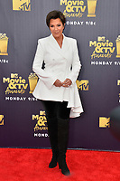 Kris Jenner at the 2018 MTV Movie &amp; TV Awards at the Barker Hanger, Santa Monica, USA 16 June 2018<br /> Picture: Paul Smith/Featureflash/SilverHub 0208 004 5359 sales@silverhubmedia.com