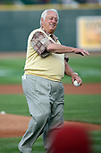 June 16th 2008:  Former Los Angeles Dodgers manager Tommy Lasorda during the Midwest League All-Star Home Run Derby at Dow Diamond in Midland, MI.  Photo by:  Mike Janes/Four Seam Images