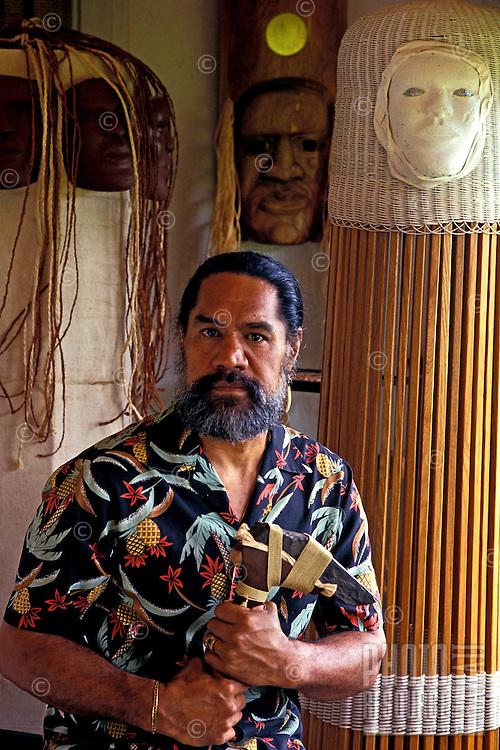 Rocky Jensen, Hawaiian artist and craftsman.