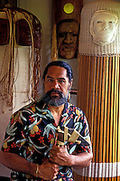 Rocky Jensen, Hawaiian artist and craftsman.