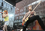 IRVINE, CA. - June 05: Hayley Williams and Jeremy Davis of Paramore  perform at the 2010 Los Angeles KROQ Weenie Roast at Verizon Wireless Amphitheater on June 5, 2010 in Irvine, California.