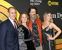 """LOS ANGELES - MAY 31:  David Nevins, Melissa Leo, Jim Carrey, Ari Graynor at the Showtime's """"I'm Dying Up Here"""" Premiere at the Directors Guild of America on May 31, 2017 in Los Angeles, CA"""