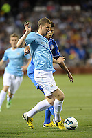 Edin Dzeko (10) Chelsea in action..Manchester City defeated Chelsea 4-3 in an international friendly at Busch Stadium, St Louis, Missouri.