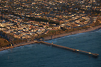 aerial photograph of San Clemente Pier, San Clemente, San Diego County, California
