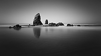 A six minute exposure of some of the most photographed sea stacks in the world.  A beautiful morning on Labor Day weekend.