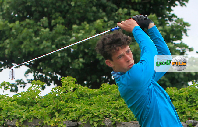 Michael Wylde (Killiney) on the 1st tee during R2 of the 2016 Connacht U18 Boys Open, played at Galway Golf Club, Galway, Galway, Ireland. 06/07/2016. <br /> Picture: Thos Caffrey | Golffile<br /> <br /> All photos usage must carry mandatory copyright credit   (&copy; Golffile | Thos Caffrey)