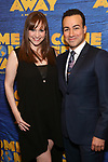 "Lisa Goldberg and Caesar Samayoa attend the ""Come From Away"" Broadway Opening Night After Party at Gotham Hall on March 12, 2017 in New York City."