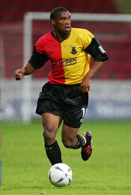 Manny Panther, Partick Thistle.stock season 2004-2005.pic willie vass
