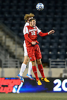 New Mexico Lobos defender Kyle Venter (12). The Notre Dame Fighting Irish defeated the New Mexico Lobos 2-0 during the semifinals of the 2013 NCAA division 1 men's soccer College Cup at PPL Park in Chester, PA, on December 13, 2013.