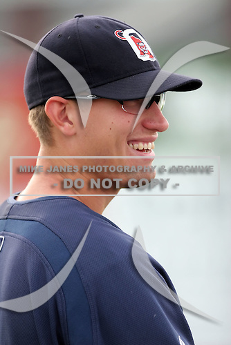July 23 2008:  Pitcher Mark Brackman of the Oneonta Tigers, Class-A affiliate of the Detroit Tigers, during a game at Dwyer Stadium in Batavia, NY.  Photo by:  Mike Janes/Four Seam Images