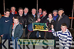 GREAT NIGHT: A great night at the Kingdom Greyhound Stadium Tralee on Friday night for the owners and trainers of the winning Greyhound in the Mike Cronin Readymix Juvenille Classic Final as they were presented with the cheque of EUR24,000 and a Waterford Crystal Vase.from Mike Cronin Sponsor of the race final. Sarah Buckley,Seamus Kinane,Jack Buckley,Michael Buckley,Michael Dunphy,Tom Morrisroe,Larry O'Rourke,Jack Ward(manager), Kieran Casey (Race Manager) Dick O'Sullivan, Mike Lynn and Brendan Hobbert. .What a finish by Droopys Torres in the Mike Cronin Readymix Juvenille Classic Final at the Kingdom Greyhound Stadium, Tralee on Friday evening. .Maire?ad, daughter of Nora and Sean Collins, Gullane, Asdee, and Gerard, son of Norma and Gabe O'Connor, Kilcolman, Asdee, who were married on Friday at St Mary's Church, Asdee by Fr Pat Moore. Best man was Liam Collins and groomsmen were Michael Keane and Thomas Collins. Bridesmaids were Ann Collins sister of the bride, Martina O'Connor and Nora Kissane. Flowergirl was Ashlyn Farey. The reception was held at Ballyroe Heights Hotel, Tralee. The couple will reside Asdee.Una, daughter of Agnus and Aidan O'Sullivan, Brecaragh, Caherdaniel, and Jerry, son of Mary and the late Denis O'Connor,Knockanes, Herdford, Killarney who were married on Friday at The Church of the Most Presious Blood, Castlecove, Killarney by Fr Fergal Ryan assisted by Fr Frank Birmingham.Best man was William O'Connor and groomsman was Seasmus O'Connor. Bridesmaids were Bernie Gleeson, Stephanie and Eimear O'Sullivan. Flowergirl was Ciara O'Connor. Pageboy was Jordan O'Sullivan.The reception was held in Ballygarry House Hotel & Spa, Tralee. The couple will reside Hedford..AC Athletic v Tralee Celtic at Mounthawke Park, tralee on Thursday night. .CREDIT UNION: The launch of the Chapter 23 Credit Union Senior League and Presentation to last years winners at The Manor West Hotel, Tralee on Thursday evening: Front l-r: Ger Galvin,Joe O'Carroll, Donal Gremin (C