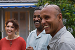 Ethnically mixed group of friends enjoying a laugh