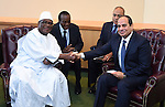 Egypt's president Abdel Fattah Al Sisi shakes hands with Mali's president Ibrahme Boubacar Keita during the meetings of the UN General Assembly in Manhattan, New York, September 26, 2015. More than 150 world leaders are expected to attend the U.N. Sustainable Development Summit from September 25-27 at the United Nations in New York to formally adopt an ambitious new sustainable development agenda a press statement by the U.N. stated. Photo by Egyptian President Office