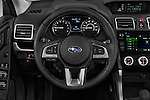 Car pictures of steering wheel view of a 2017 Subaru Forester 2.5i-Limited-CVT 5 Door SUV Steering Wheel