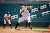 Birmingham Barons relief pitcher Ryan Burr (32) delivers a pitch during a game against the Pensacola Blue Wahoos on May 9, 2018 at Regions FIeld in Birmingham, Alabama.  Birmingham defeated Pensacola 16-3.  (Mike Janes/Four Seam Images)
