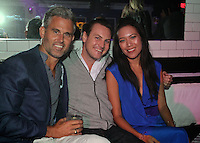 Spencer Potts, Andrew Schweibold and Francine Li attend The Friends of Finn by the Shore party at Finale East on Aug. 2, 2014 (Photo by Taylor Donohue/Guest of a Guest)