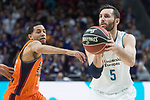 Real Madrid Rudy Fernandez and Valencia Basket Erick Green during Liga Endesa match between Real Madrid and Valencia Basket at Wizink Center in Madrid , Spain. March 25, 2018. (ALTERPHOTOS/Borja B.Hojas)