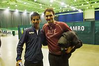 09-02-13, Tennis, Rotterdam, qualification ABNAMROWTT, Draw, van der Lans en Federer