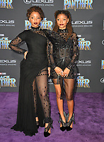"Chloe X Halle at the world premiere for ""Black Panther"" at the Dolby Theatre, Hollywood, USA 29 Jan. 2018<br /> Picture: Paul Smith/Featureflash/SilverHub 0208 004 5359 sales@silverhubmedia.com"