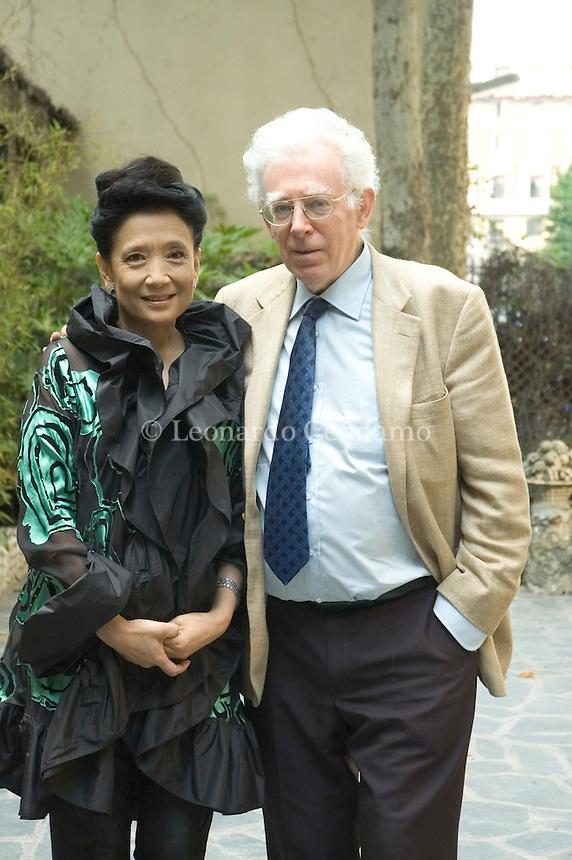 Milan, Italy, 2006. Jung Chang, Chinese writer and Jon Halliday, English writer and historian.