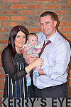 Proud parents Rachel Hanrahan and Tom Flynn from Frires, with baby Tommy who was christened last Sunday, pictured here in The Devon Inn, Templeglantine.