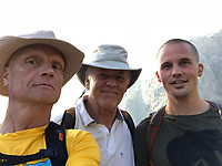 John, Doug, & Thomas at the Trailhead of the Mt. Giglios Hike