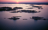 Thimble Islands, Branford, CT aerial view
