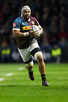 Harlequins' Mathew Luamanu in action during todays match<br /> <br /> Photographer Bob Bradford/CameraSport<br /> <br /> Aviva Premiership Round 20 - Harlequins v Exeter Chiefs - Friday 14th April 2017 - The Stoop - London<br /> <br /> World Copyright &copy; 2017 CameraSport. All rights reserved. 43 Linden Ave. Countesthorpe. Leicester. England. LE8 5PG - Tel: +44 (0) 116 277 4147 - admin@camerasport.com - www.camerasport.com