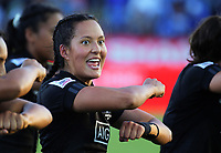 The Black Ferns perform a haka after winning the Fast Four final on day two of the 2019 HSBC World Sevens Series Hamilton at FMG Stadium in Hamilton, New Zealand on Sunday, 27 January 2019. Photo: Dave Lintott / lintottphoto.co.nz
