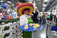 NWA Democrat-Gazette/J.T. WAMPLER Ginger Edwards of Tulsa gives out samples of guacamole Thursday May 25, 2017 at the grand opening of  the Springdale Sam's Club. The club is located in west Springdale on 56th St. and is the first Sam's Club in the city for nearly a decade.