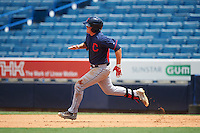 Ashton McGee (6) of Charles B. Aycock High School in Goldsboro, North Carolina playing for the Cleveland Indians scout team during the East Coast Pro Showcase on August 3, 2016 at George M. Steinbrenner Field in Tampa, Florida.  (Mike Janes/Four Seam Images)